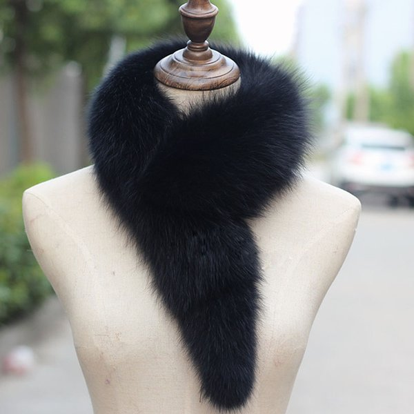 wholesale Real Fox fur scarf Female Fashionable Scarves Fashion 2019 for women Thick Autumn Winter fox scarves Fashion collar