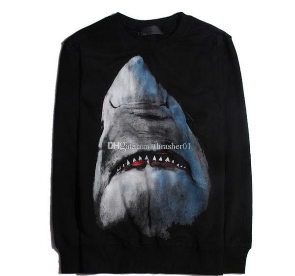 19ss Famous Mens Designer Hoodies Fashion Men Women Casual Jacket Couples Autumn Loose Hoodies Shark Printing Sweatshirt