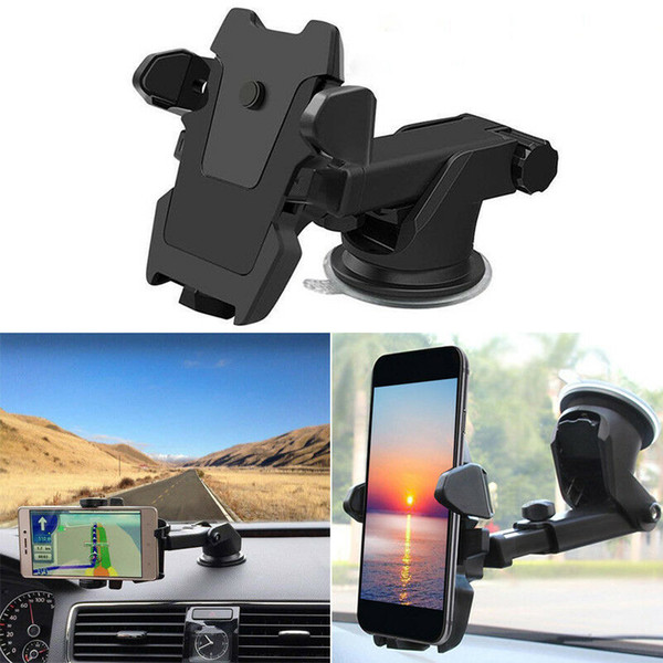 best selling 360° Rotations Adjustable Car Holder Sucker Support Windshield Mount Bracket for Less than 6 inch Mobile Cell Smart Phones