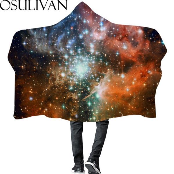 Osulivan Star Sky Impreso Manta de Invierno Divertido Capa Decoración Para el Hogar Baño Cama de Viaje Silla de Viaje Sofá Picnic Hotel Regalo