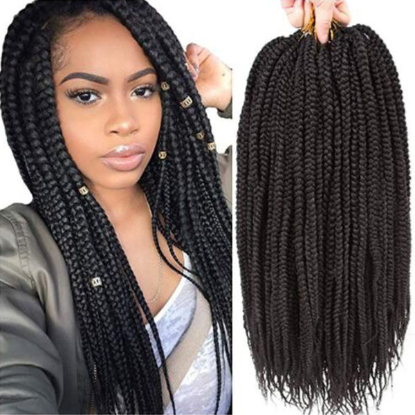"1Packs 14''18""22"" Box Braids Crochet Hair Synthetic Hair Extensions Twist Crochet Braids Hairstyles Long Dreadlocks for Black Women ( 30#)"