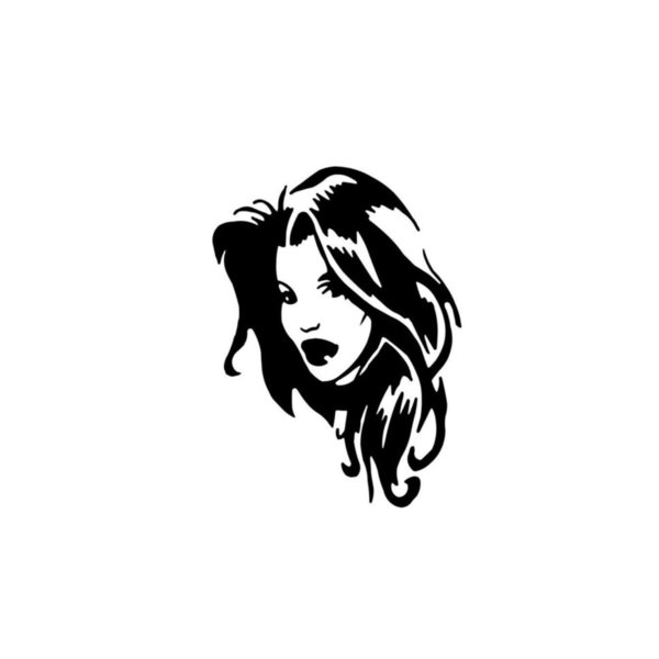 """Sexy Girl Vinyl Decal Sticker Truck Window- 6"""" Tall White Color Beauty Temptation Body Car Stickers Decals"""