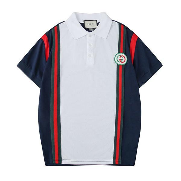 Frühling und Sommer neue Mode Herren T-Shirt klassischen Stil mercerisierter Baumwolle kleinen Kragen Shirt wild casualhot