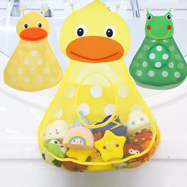Bebek banyo oyuncakları depolama Bebek Duş Banyo Oyuncakları Küçük Ördek Küçük kurbağa Güçlü Vantuz ile Bebek Çocuk Oyuncak Depolama Mesh Oyuncak Çanta banyo