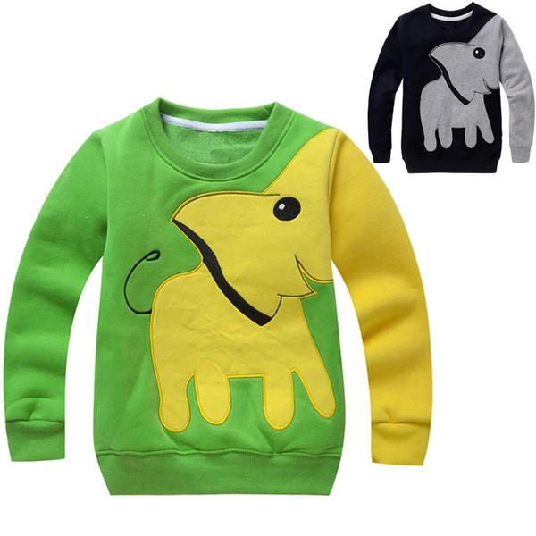Criança Do Bebê Meninas Meninos Roupas Elefante Manga Longa Blusa Tops Camisa Camisola Modis Hoodies Camisola das Crianças Para As Crianças