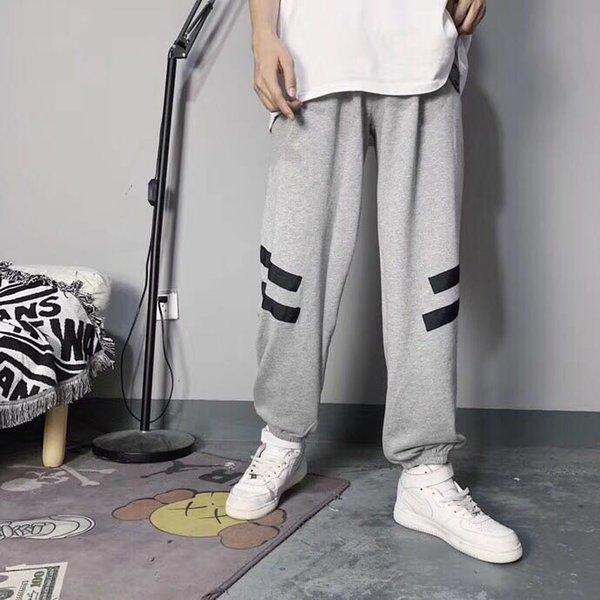 Mode-Hommes Gris Designer Sweatpants Marque épais Pantalon luxe Pantalon Casual Coton Coupe ample Automne Hiver Confortable B102286Z