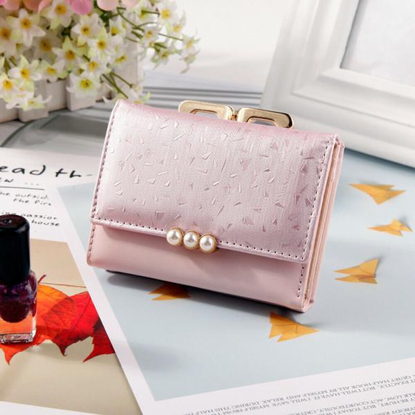 Women's clutch bag pearl mini bag purse solid color portable pu leather clutch sac a main