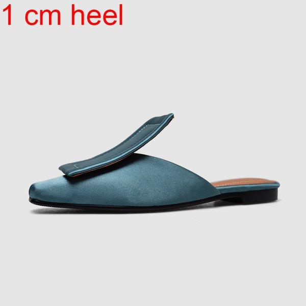 синий каблук 1 см