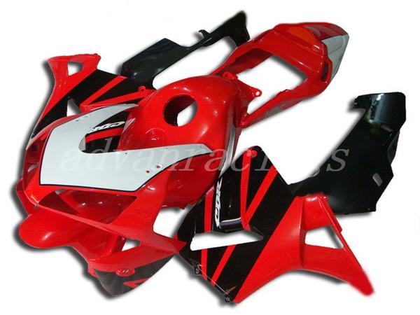3Gifts Nueva motocicleta ABS Kits de carenados completos + cubierta del tanque Ajuste para HONDA CBR600RR F5 2003 2004 03 04 600RR CBR600 conjunto de carrocería rojo negro