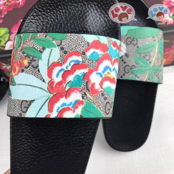 Francês mainstream Luxo Homens Mulheres Sandálias 35-45 nova moda casual top quality entrega gratuita caixa de flor GNB31