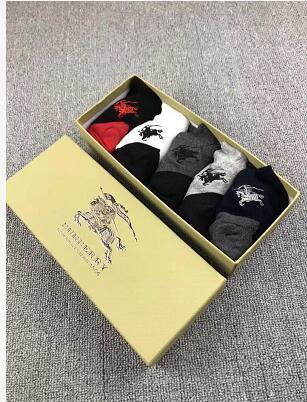 I nuovi calzini della moda 5 paia / calze da box 5 colori in cotone traspirante moda sportiva uomo casual calze comode da uomo