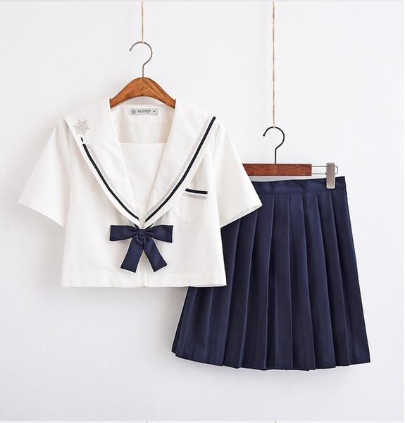 Orthodox Japanese bad girl jk uniform suit soft sister college wind school uniform class service pleated skirt cute sailor