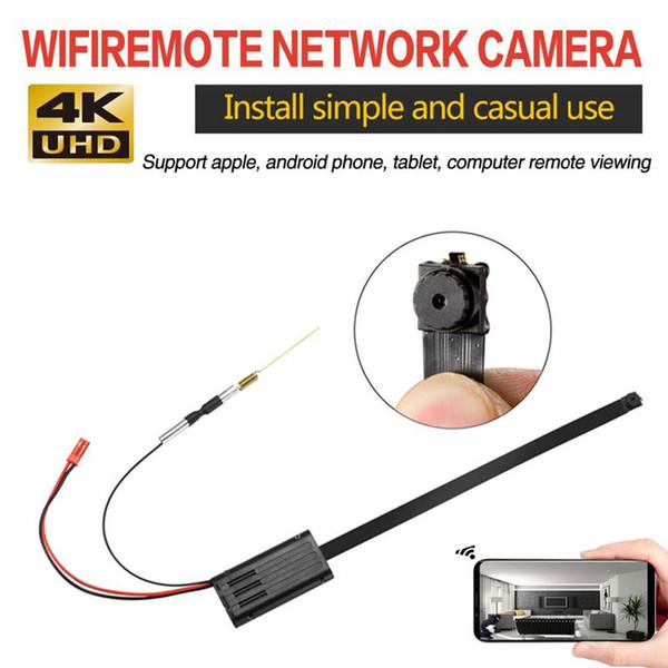 4K Ultra-HD P2P Wifi câmeras de vigilância Camera DIY Mini Módulo Pinhole IP Mini DV DVR Home Security CCTV Câmeras IP Cam