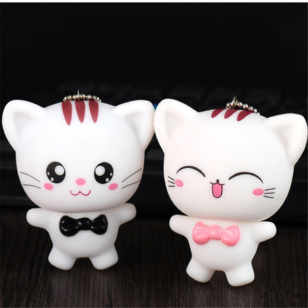 Amantes dos desenhos animados de Qualidade Cat Doll Chaveiro Homens Mulheres Buceta Anel Chave Da Cadeia Modelo Chaveiro Gato Para O Saco de Jóias do dia dos namorados