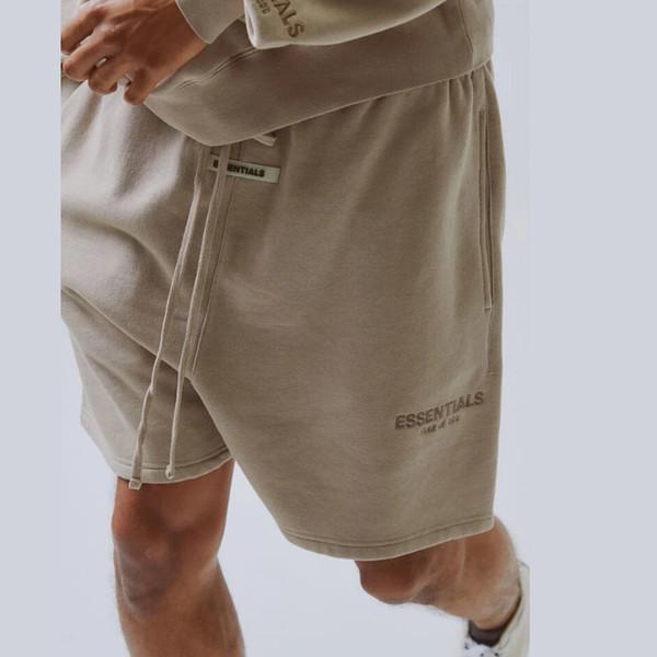 top popular 19SS Fear Of God FOG Essentials Reflective Shorts Vintage Street Elastic Waist Outdoor Short Pants Sport Loose Casual Shorts HFYMKZ170 2020