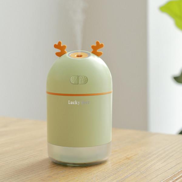 Cartoon Mini Deer Ultrasonic Air Humidifier 400ml Large Capacity Diffuser USB Car Air Humidifier Creative Gifts