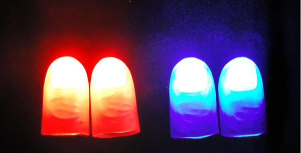 Funny Novelty Light-Up Thumbs LED Light Flashing Fingers Magic Trick Props Amazing Glow Toys Children Kids Luminous Gifts
