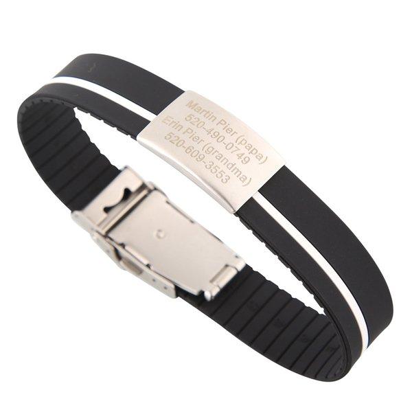 Black-white stripe-Can be cut short