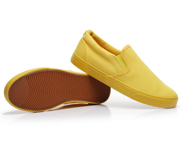 2019 Spring New Women Casual Flat Shoes Fashion Low Cut White Black Yellow Canvas Sport Shoes Female Zapatillas Sneakers Loafers 36-40