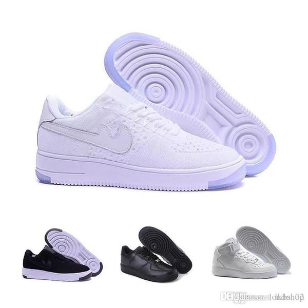 promo code 43eae cd163 Großhandel Nike Air Force 1 Flyknit Utility Marken Rabatt Für Herren Und  Damen Flyline Laufschuhe, Skateboard Schuhe 1 Paar High Low Cut Schwarz  Weiß ...