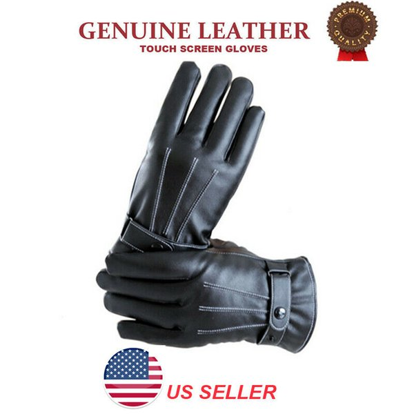 Mens Winter Warm Windproof Waterproof Anti-slip Thermal Touch Screen Gloves