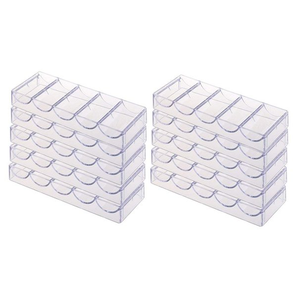 100 Count Poker Chip Racks Chips Holder Box Container Chips Storage Case