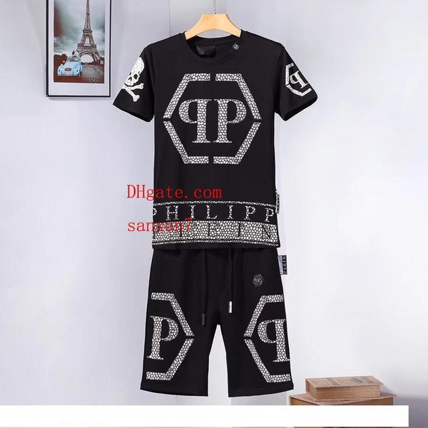 Brand Mens Tracksuits Summer T-shirt+Pant Sportswear Fashion Casual Sets Short Sleeve Running Jogging Basketball clothes fen-di6