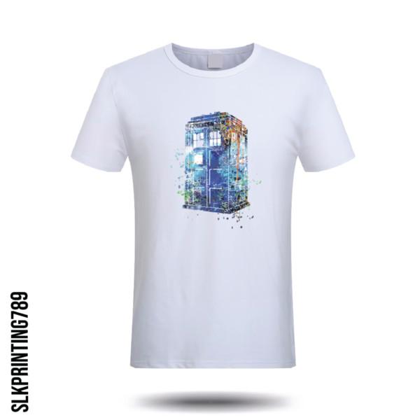 Dr Who Tardis Inspiré T-shirt Imprimer Inspiré Hommes Dames Tee Top Docteur Qui Amusant Hommes Femmes Mode Unisexe t-shirt Livraison Gratuite
