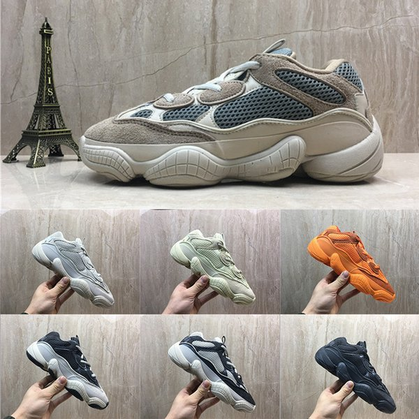 low priced 56969 2a56b [with box]2019 og High Quality yeezy yeezys yezzy yezzys 500 boost Kanye  West static 3M material Blush super moon yellow utility black Deser