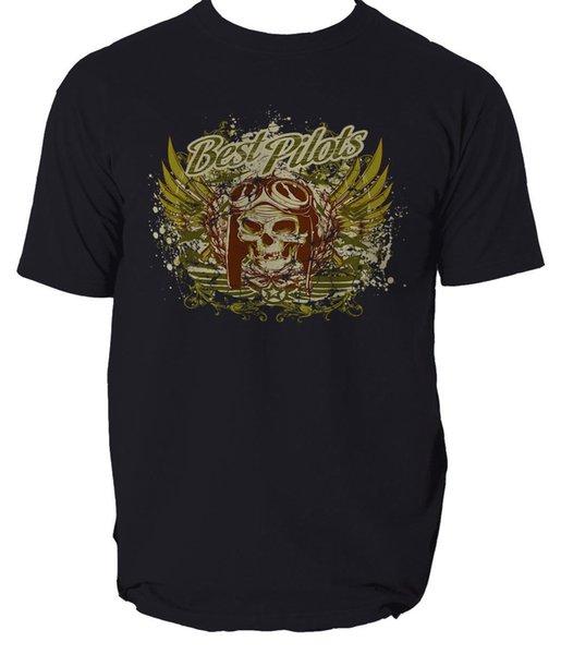 Лучшие пилоты футболка самолет WW2 война S-3xl мужчины женщины унисекс мода футболка бесплатная доставка смешно прохладный топ футболка черный
