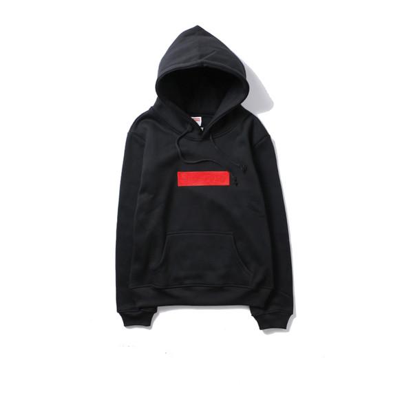 19SS Moda Hoodie mens Designer marca Clássico bordado hoodies caixa Vermelha logotipo Com Capuz Camisola Dos Homens das mulheres camisolas Pullover