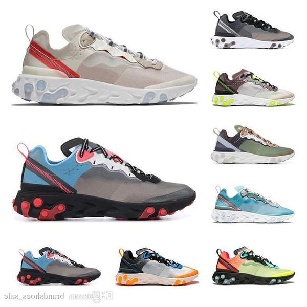 Reach 2019 Eleman 87 Erkek Kadın Koşu Ayakkabıları Spor Sneaker En Kaliteli Yeşil Mist Işık Orkide Kahverengi Nefes Moda Eğitmenler