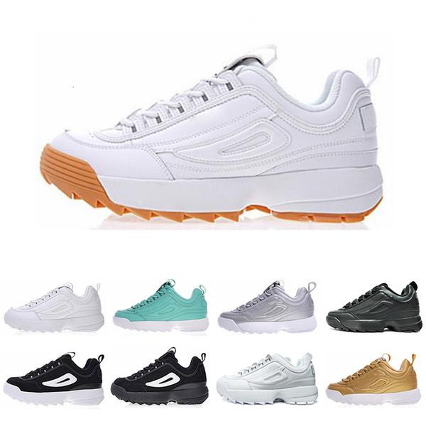 2019 Classic II 2 FILE Scarpe da corsa aumentate per uomo Donna moda Nero Bianco oro grigio Sneakers Sneakers da ginnastica scarpe da jogging taglia 36-44