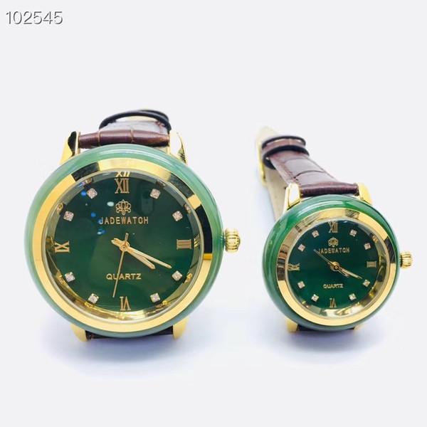2019New men Watch Couple wristwatch Women Clock Jade material slim Business man Clock creative luxury fashion Top female watches