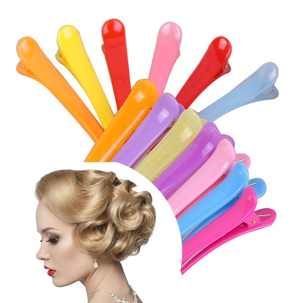 NEW 10Pcs Dedicated Hairpins Salon Section Grip Hair Clips Hairdressing Styling Tool Barrette Hairclip Braiding Hair Pins G0313