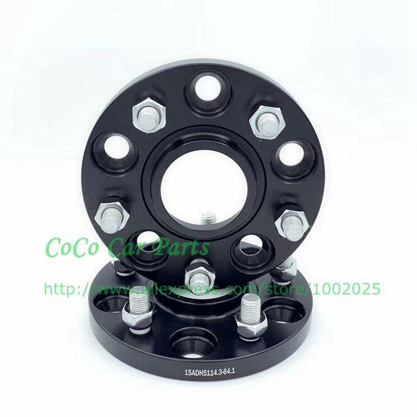 2шт 15мм PCD 5X114.3 CB 64.1мм Hubcentric Wheel Spacers 12x1.5 Шпильки
