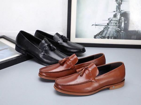 221918 Püsküller Ile Moda Yeni Büyük Kurulu Lefu Iş Erkekler Elbise Moccasins Loafer'lar Dantel Ups Çizmeler Sürücüler Sneakers Ayakkabı
