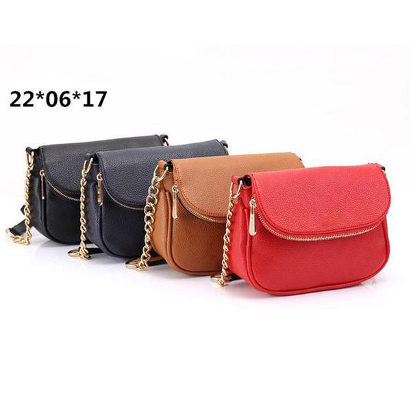 Yeni moda kadınlar tasarımcı omuz çantası pu deri marka tasarımcı Çanta kadın Mini tasarımcı crossbody çanta mektubu ile küçük mesaj çantası