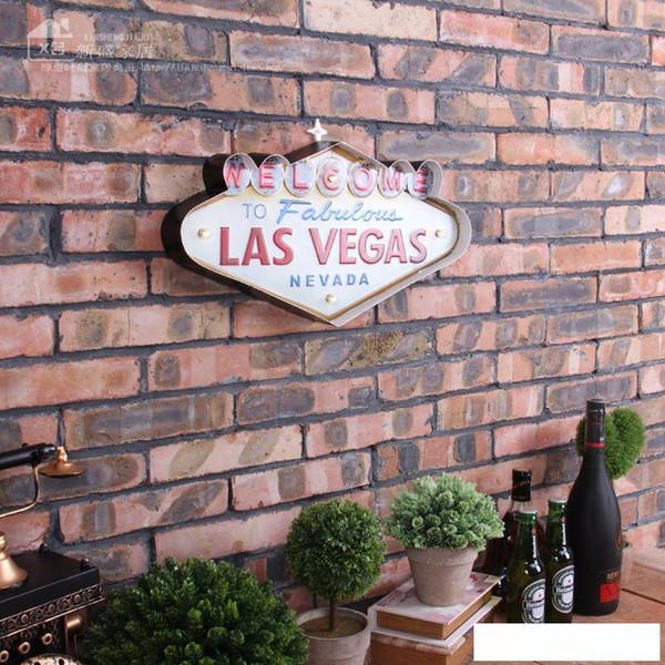 Gros- Las Vegas Décoration Peinture Métal Neon Bienvenue signes Bar Led décorations