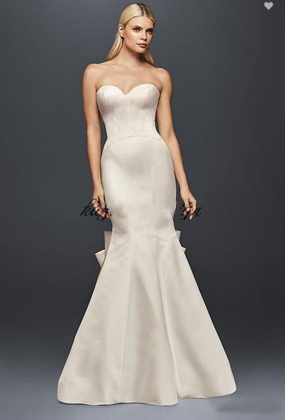 2020 Truly Zac Posen Seamed Satin Wedding Dress With Big Bow