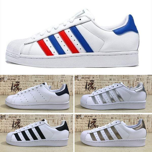 Compre Adidas Superstar Junior 2016 Originales Superstar Holograma Blanco Iridiscente Junior Superstars 80s Pride Sneakers Super Star Mujeres Hombres