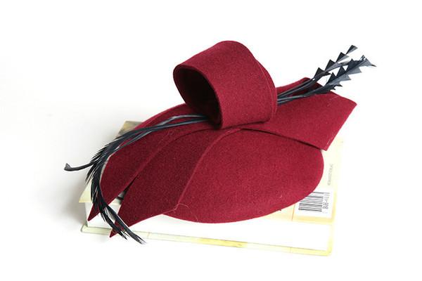 Women Fascinator Hat Autumn Winter Hollow Veil Wool Felt Women Fedoras Cocktail Formal Dress Hats Wedding Hats Hair Accessories