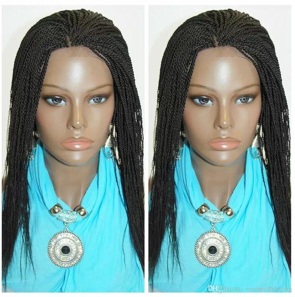 Micro peluca afroamericana trenzado pelucas para mujeres 14