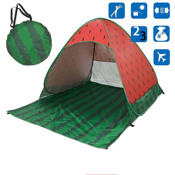 New Beach Tent watermelon Ultralight Folding Tent Pop Up Automatic Open Tent Family Tourist Fish Camping Anti-UV Fully Sun Shade