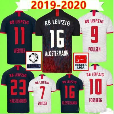 19 20 Accueil Maillots de football à l'extérieur troisième WERNER Camiseta FORSBERG Maillot halstenberg Sabitzer 2019 2020 Chemises Football Kits Uniformes CUNHA