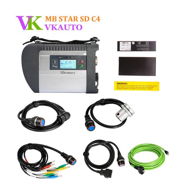 Diagnose-Multiplexer MB SDConnect 4 Wifi-Versions-Stern-C4 für Autos und LKW-volle neue Relais-Chip-freies Verschiffen