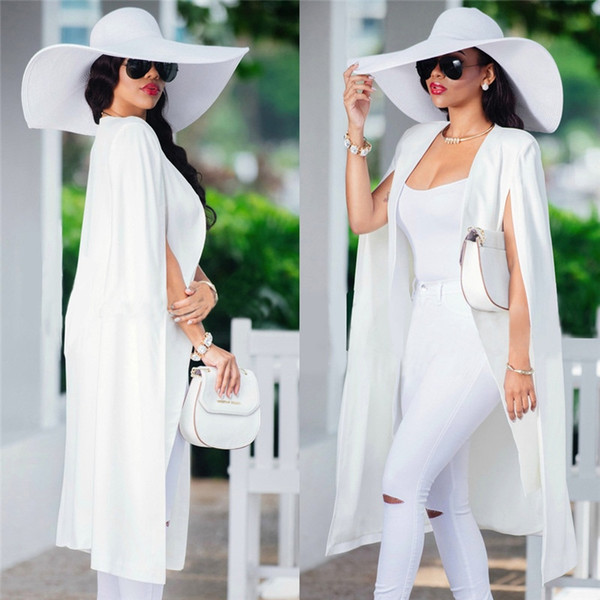 Adogirl S-4XL Autumn Women Poncho Cape Coat Jacket Suit Shawl Plus Long Sleeve Cloak Cardigan Outwear Fashion Women Clothing #409090