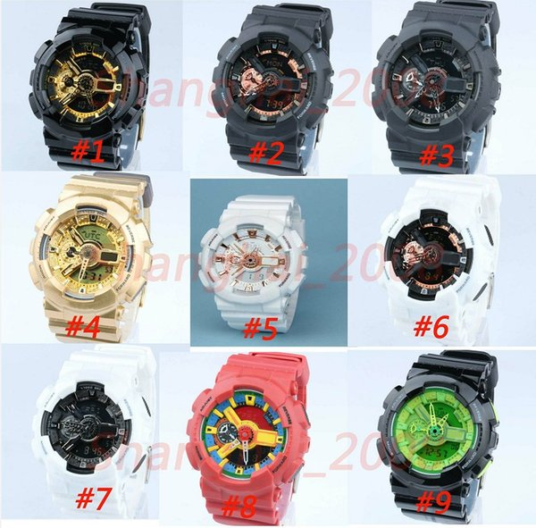 5pcs/lot relogio men's sports watches, LED chronograph wristwatch, military watch,gift digital watch,small pointers no work,no box