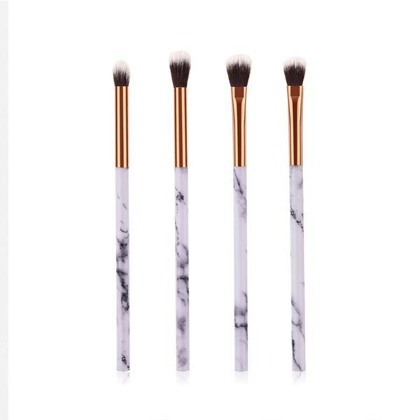 1/4 Pcs Women Marble Texture Marbling Handle Eyeshadow Brush Powder Blending Concealer Makeup Cosmetic Brush Tool #273602