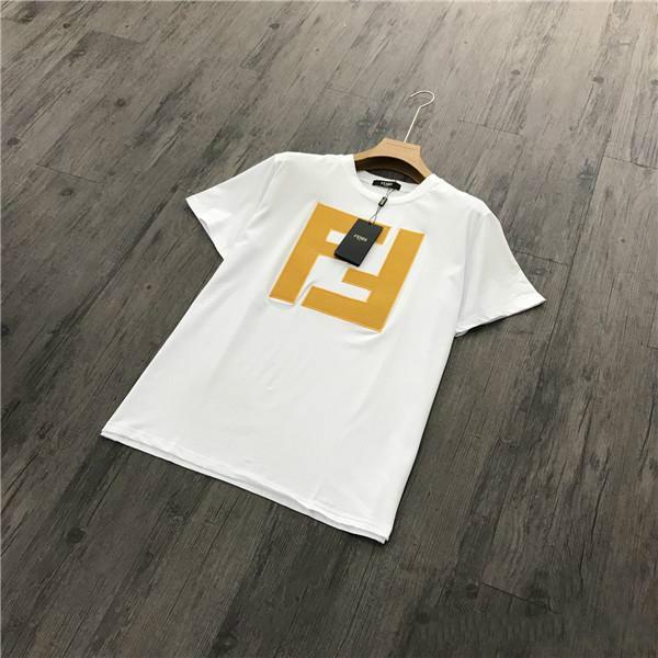 19ss FEND Liebhaber Baumwolle T-Shirts Paris FF ROMA Italien 1925 Unisex Kurzarm Sommer T Atmungsaktive Weste Shirt Outdoor T-Shirt